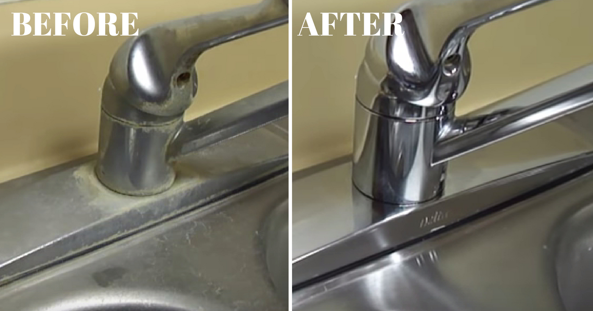 Is Your Sink Or Faucet Covered In Hard Water Stains Here S How To Clean Them Grandma Things